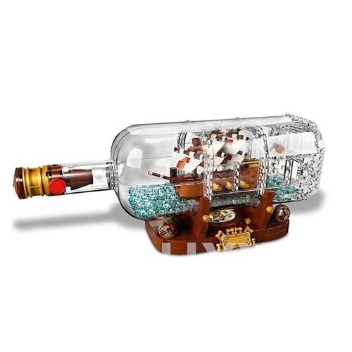 LEPIN 16045 775 stücke Film Serie Schiff In Eine Flasche Modell Bausteinziegelsteine Kit Set - Plastiktüte Paket