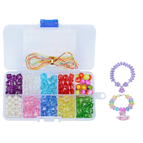 Handmade DIY Wearing Colorful Toys for Beads Bracelet Necklace Amblyopia Training Girl Children Style 1