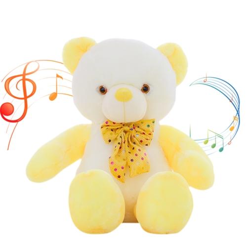 50 * 35 * 18cm bunter LED-Blitzlicht-leuchtender Bär-weicher Plüsch-Puppe - Art 2 LED-Licht und Musik spielen