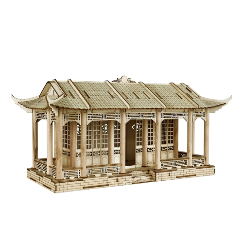 3D Holz Puzzle Modell Holz Große Chinesische Architektur DIY Spielzeug Kunst Handwerk Gebäude Kit Beste Pädagogisches Geschenk für Kinder Eltern-Kind Interaktive Spielzeug Stil 2 Galerie