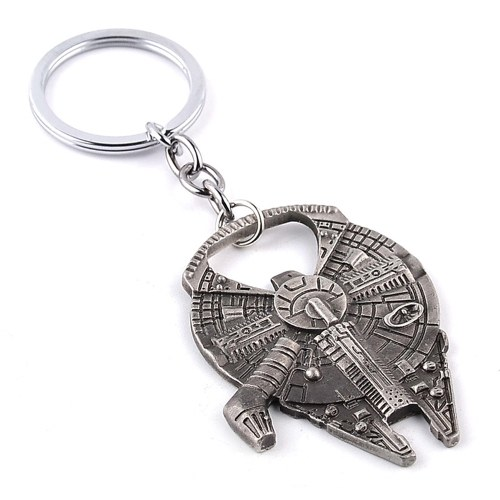 Porte-clés Pendentif Décoration Spaceship Forme Décapsuleur Film Produit