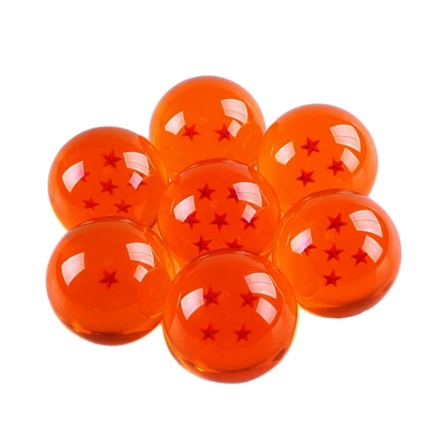 Acrylic Dragon Balls Crystal Transparent Balls 7 Pieces 3.5 CM Diameter with Gift Box