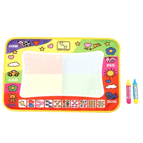 Non-toxic Water Drawing Mat Board Painting and Writing Doodle With Magic Pen for Baby Kids 45.5 * 29 CM