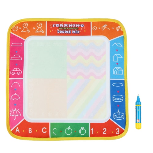 Non-toxic Water Drawing Mat Board Painting and Writing Doodle With Magic Pen for Baby Kids 29 * 29 CM