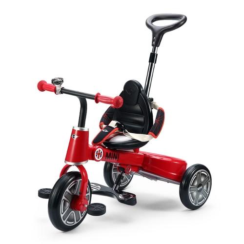 Raster plegable niños carretilla BMW Mini Copper Niños 1-3 años triciclo del cochecito del cochecito de bebé para bicicleta con la cesta del almacenaje
