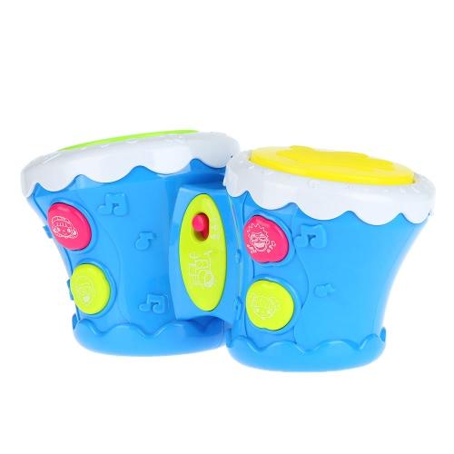 多機能ベビー玩具ドラムミュージカルダブルパットドラムフラッシュドラム知能教育玩具ビート