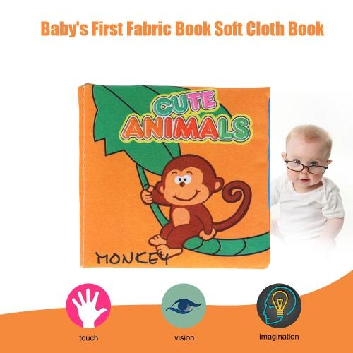 Coolplay赤ん坊の最初の非毒性ファブリックブック洗える柔らかい布帳幼児の幼児の子供の早期教育学習玩具