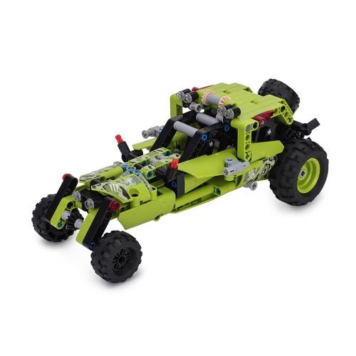 BIOZEA Kinder Tech Bausteine Spielzeug Pädagogik Techniken Ziegelsteine Teile Designer Spielzeug Erleuchtung DIY montieren Fahrzeug Modell Kinder Geschenk