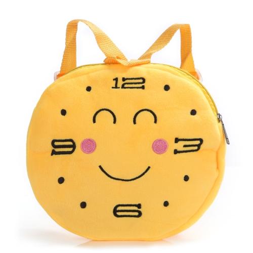 Nette Emoji Gesichter Uhr Muster Rucksack Emoticon Schulter Schule Kind Tasche Schultasche Rucksack Rucksack Villus Plüschtier für Kinder Mädchen Jungen Geschenk