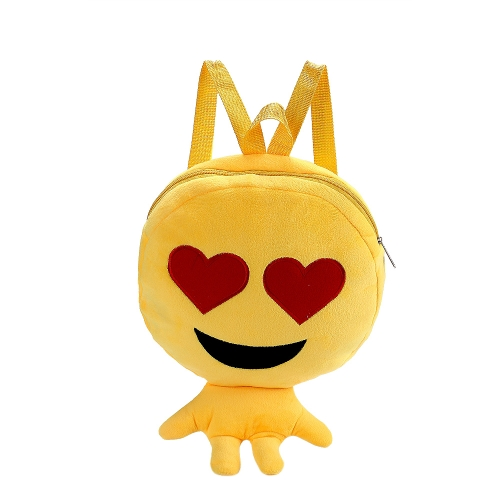 魅力的なかわいい子供たちEmoji Emoticonショルダーバッグ面白いバックパックスクールチャイルドバッグぬいぐるみサッチェルリュックサックスクールバッグ女の子ボーイズギフト6#