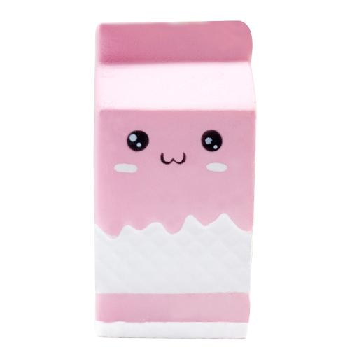 Squishy Soft Charms Rosa Milch Box Flasche Stress Relief Langsam steigende Sammlung Geschenk Dekor Spielzeug Cute Kid Erwachsene Party Favors Weiß und Pink Style 1
