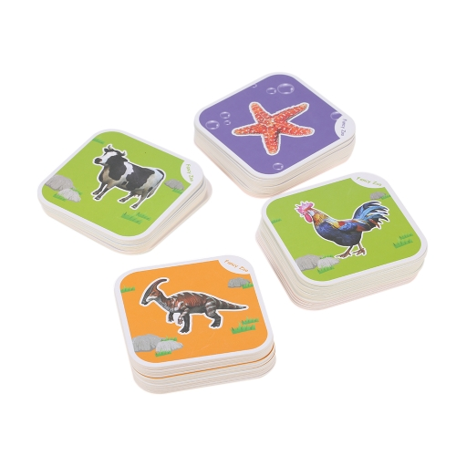 68Pcsファンシー動物園マジック4D Augmented Reality Flashcards ARランド海洋飛行動物の昆虫と恐竜教育ゲーム13切り替え可能な言語子供のための最高のおもちゃの贈り物