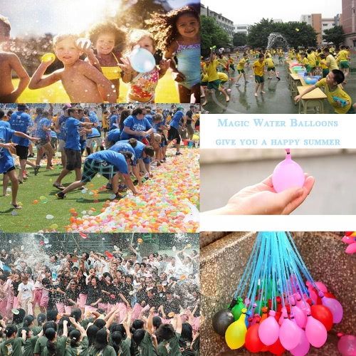 111pcs Magic Water Balloons Colorful Rapid Filled Toy