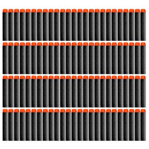 ホワイトリフィル中空プラスチックヘッドダーツ50 / 100PCS NERF NストライクエリートBlastersのためのEVAの弾丸おもちゃの銃クリップ発泡弾