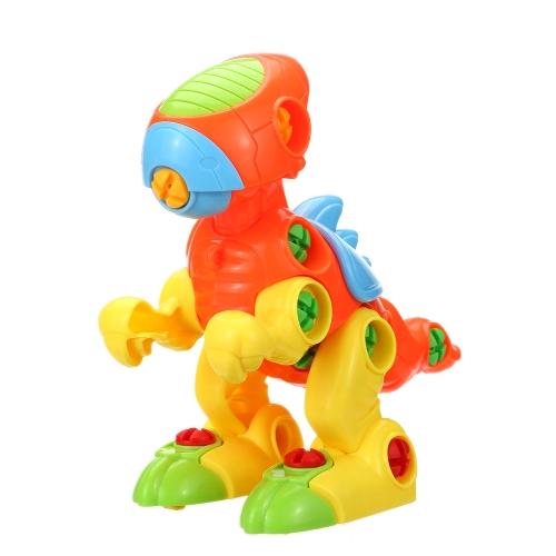 1 Pc子供動物パズルプラスチック分解アセンブリ漫画玩具子供教育玩具子供赤ちゃんギフトスタイル1