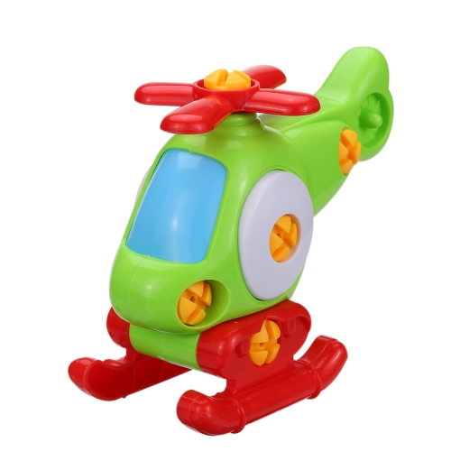 カラフルな分解アセンブリ平面Heliconptorのおもちゃスクリュードライバーノベルティビルディングブロックパズル子供のための贈り物子供の教育おもちゃスタイル1