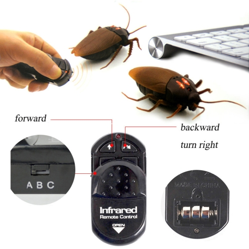 Funny Simulation Infrared RC Remote Control Scary Creepy Insect Real Looking Fake Cockroache