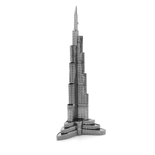 3DパズルBurj Khalifa Tower  -  3Dメタルモデル -  DIYジグソーパズルモデルビルディング教育玩具