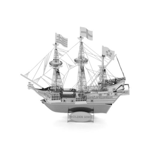 3D Puzzles Golden Hind Ship - 3D Modello di Metallo Kit - Bricolage Modello Animal Educational Toys