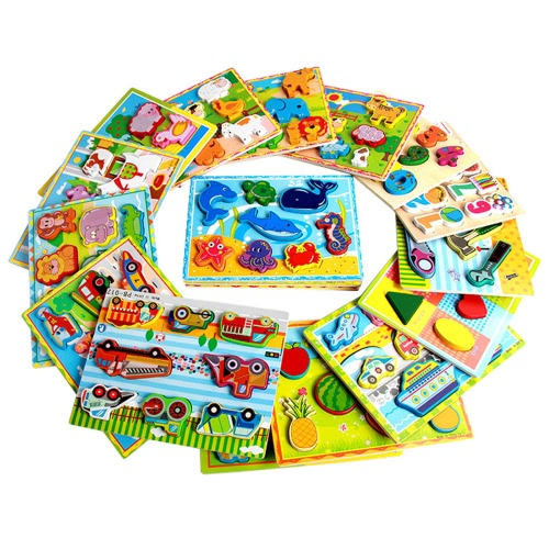 Giocattoli educativi di sviluppo antico di puzzle della mano di legno