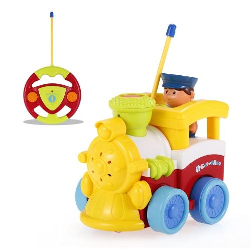 JakMean 2CH Radio Control Musik und Lichter Cartoon Auto Polizei Auto Spielzeug für Kinder Kleinkinder