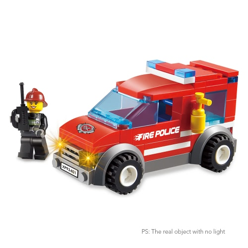 2 Sets XIPOO Fire Series 84pcs XP93401 City Fire Police and 72pcs XP93402 Heroic Fire Fighter Educational Building Blocks Toys