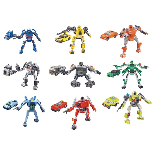 9-in-1 XIPOO Trasformatori Serie 737pcs XP90010 Autobot Warrior Deform Car Kit Building Block Educational Toys