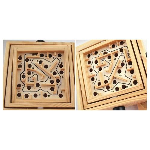 木製の迷路パズルの迷路のゲーム木の迷路のバランスボード子供のための教育スキルの向上木製のおもちゃ