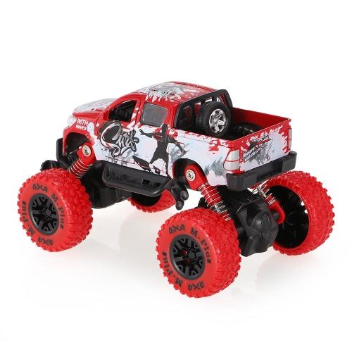 クラシックプルバックカー1/30合金4WDビッグホイールショック耐性オフロードクライミング車2ドアオープンプルバックビークルおもちゃトラック