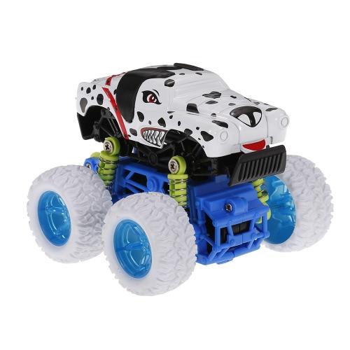 1:34動物の慣性車のおもちゃオフロード車4WD合金ビッグホイール耐衝撃慣性車カラフルな摩擦駆動の車のおもちゃ