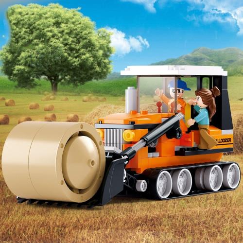 Sluban M38-B0558子供のための165pcs草キャリアビルディングブロック建設玩具