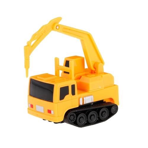 ゴールドライトマジックミニ建設トラック掘削機ブラックドローラインのおもちゃの車に従ってください