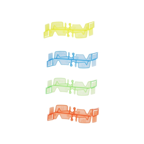 240PCS 55mm Twisted Tracks Flexible Assembly Neon Glow in Darkness Race Track Blocks for Kids