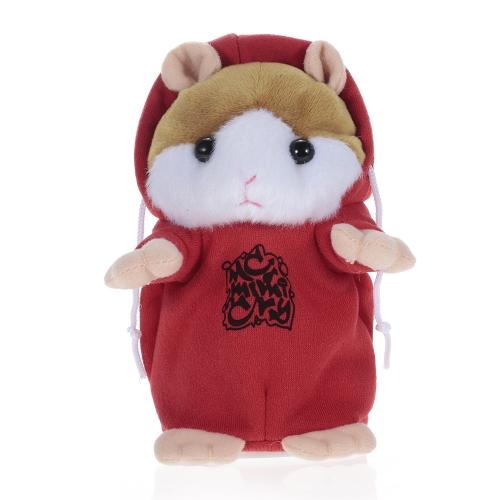 Sprechender Hamster wiederholt, was Sie niedlich Plüsch Electronic Mimicry Hamster interaktives gefüllte Spielzeug Geschenk für Kinder Geburtstag und Party-RED sagen