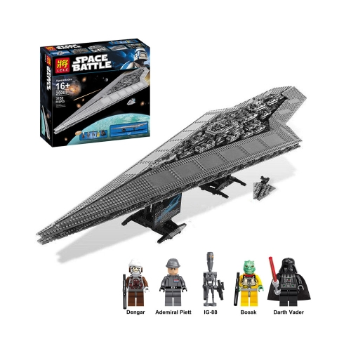 Scatola originale LEPIN 05028 3208pcs serie Star Wars Execytor Super Star Destroyer Spaceship Building Block Kit Set
