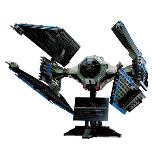 LEPIN 05044 703pcs Edizione Limitata TIE Interceptor Star Wars Spaceship Building Block Kit Set - Sacchetto di plastica