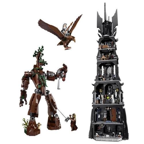 Scatola originale LEPIN 16010 2430pcs Serie di film Il Signore degli Anelli Torre di Orthanc Modello di edificio Blocchi Kit di mattoni