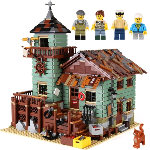 LEPIN 16050 2109pcs Movie Series Old Fishing Store Model Building Blocks Bricks Kit - Plastic Bag Packaged