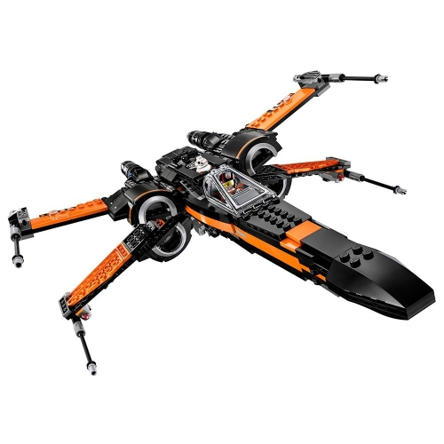 LEPIN 05004 748pcs serie Star Wars Poe's X-Wing Fighter Spaceship Building Block Kit Set - Sacchetto di plastica confezionato