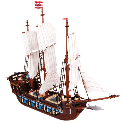 LEPIN 22001 1717pcs Technic Series Pirates Imperial Flagship Model Building Blocks Bricks Kit - Plastic Bag Packaged