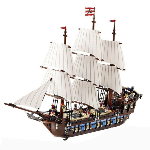 LEPIN 22001 1717pcs Technic Series Pirates Imperial Flagship Modelo Building Blocks Bricks Kit - Bolsa de plástico embalado