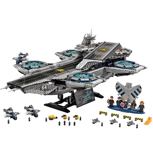 Oryginalne pudełko LEPIN 07043 3057 sztuk Super Heroes Seria SHIELD Helicarrier Model Building Blocks Bricks Kit