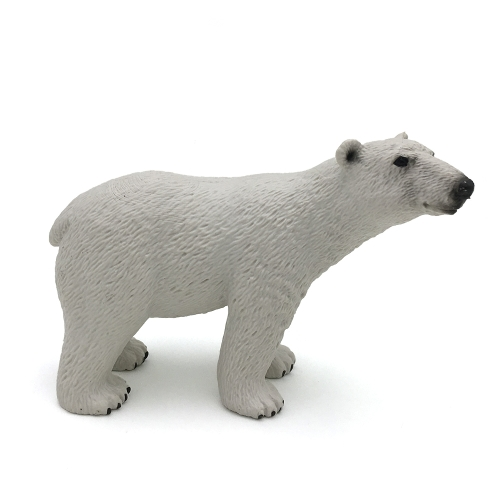 Polar Life Toys White Bear Model Animal Action Figure Toy for Pretend Play and Themed Party