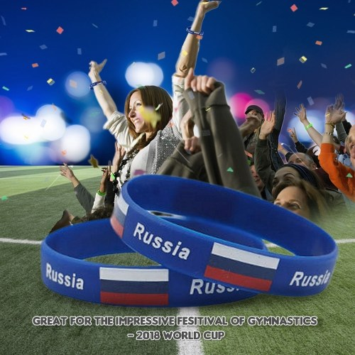 National Flags Silicone Bracelets Wristbands for Russia 2018 World Cup - Russia