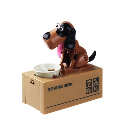 1ピースかわいい貪欲なロボット犬のモデル銀行自動貯金ポットコインコレクションボックスキッドスタイル1のためのマネーボックスギフト