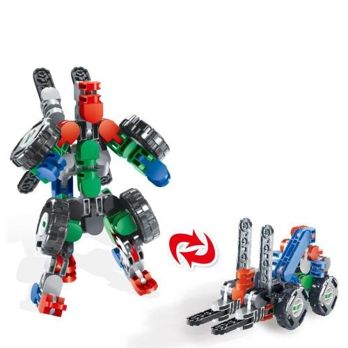 メイクレンガロボットモデルビルディングブロック子供たちはおもちゃを組み立てる他の主要ブランドと互換性があるスタイル1