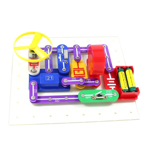 5889 Project Electronics Discovery Kit DIY Radio Recorder Music Doorbell Educational Science Blocks Learning Electric Circuit Toy for Children