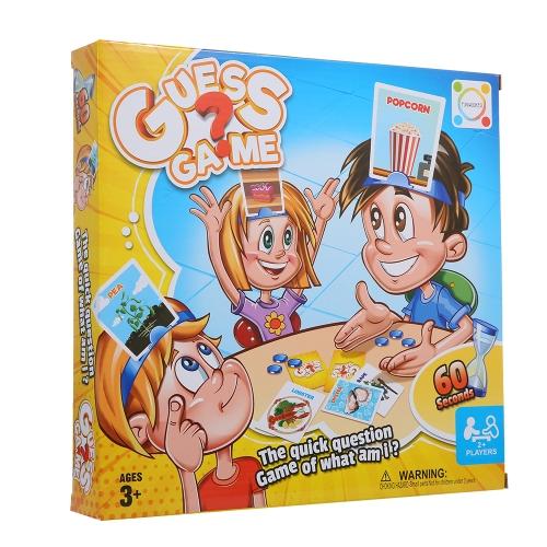 私は誰だと思いますかゲームボードゲームカードキッズ子供のおもちゃ面白い教育おもちゃスタイル1人