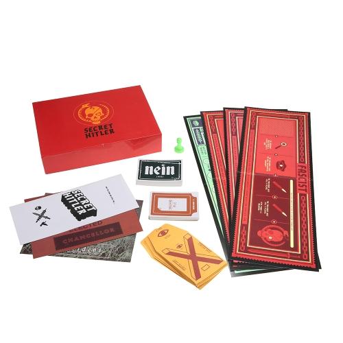 秘密のヒトラーボードゲーム正体のIDカードゲーム家族パーティーのためのポーカーカード5-10プレイヤー
