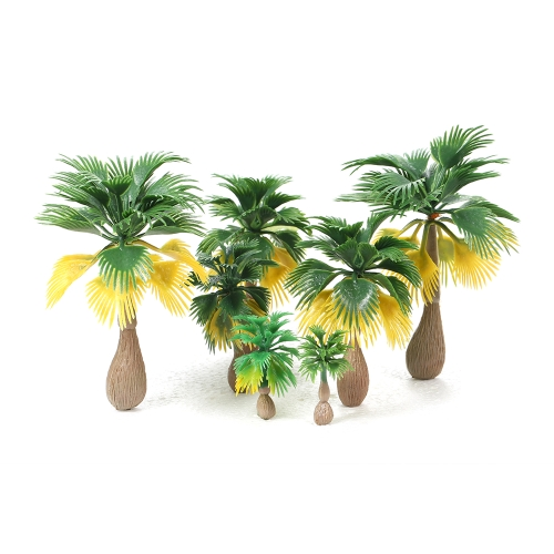 15pcs Miniature Landscape Scenery Layout Model Treno Palm Trees Rain Forest Scale 1: 100-1: 300